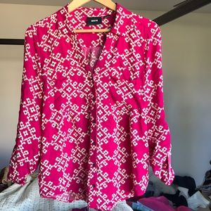 Like New Printed Anthropologie Blouse SZ 6